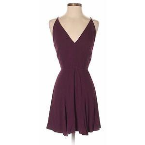 Dark red purple reformation mini dress